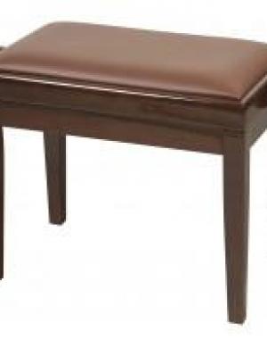 PROEL Panca regolabile noce  lucido cuscino imbottito similpelle marrone