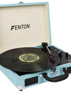 FENTON RP115 Giradischi Record Player Briefcase Blue
